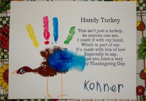 Handy Turkey Printable - .pdf format