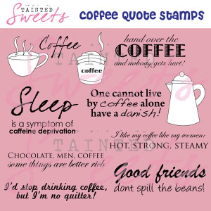 Coffee & Tea Digital Stamps - Project