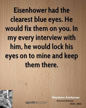 His Blue Eyes Quotes