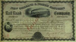182: CSA General JAMES LONGSTREET - Stock Cert Signed