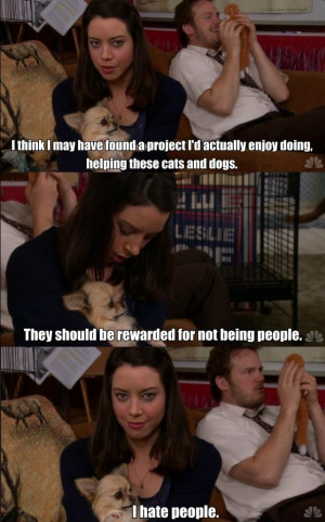 April Ludgate hates people. Parks and Recreation.