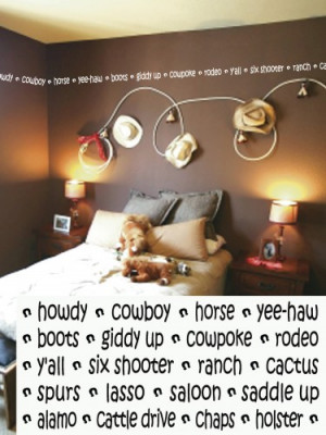 Cowboy Border 4x260 Vinyl Lettering Wall Quotes Words Sticky Art