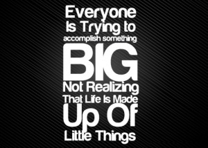acomplish-something-big-life-made-up-of-little-things-quote