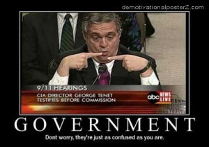 Government confused motivational poster - demotivator