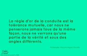 Vérité Et Sous Des Angles Différents» Mohandas Karamchand Gandhi
