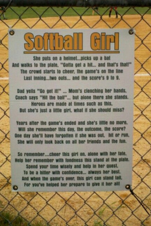 Softball poem | Softball Mom....
