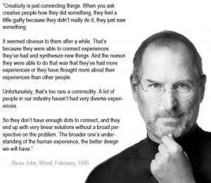 The Key To Creativity, According To Steve Jobs