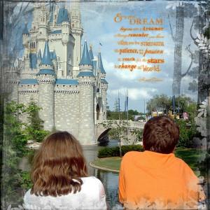 Scrapbooking Cinderella's Castle – Quote Overlay