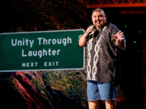 """Gabriel Iglesias in a scene from his concert film """"The Fluffy Movie ..."""