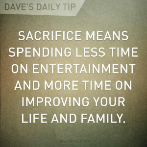 Sacrifice for a better future