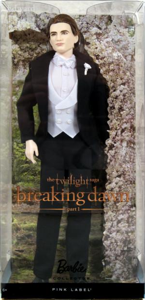 ... Twilight Saga: Breaking Dawn EDWARD CULLEN Pink Label Doll NEW wedding