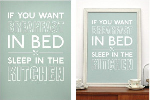 ... by The Lepolas - Breakfast In Bed Print - Mothers Day Gift Ideas