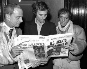 Lawyer Roy Cohn with Studio 54 co-owners, Ian Schrager & Steve Rubell ...