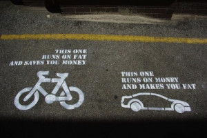 cars vs bikes - funny bike picture