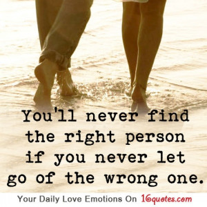 You'll Never Find The Right Person