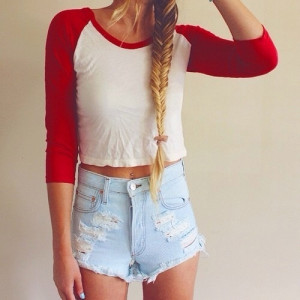 ... life, live, love, perfect, quotes, red, shorts, style, stylish, summer