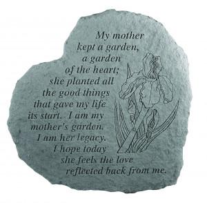 My Mother Kept a Garden Memorial Stone