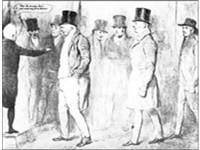 William Cobbett , (left foreground) , John Gully (middle) and Joseph ...
