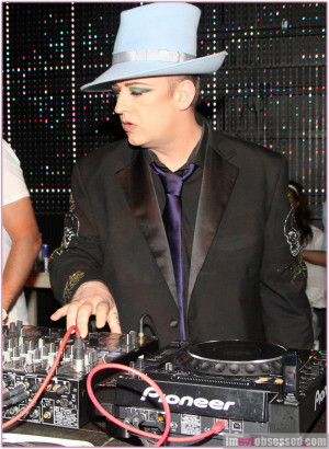 Boy George Spins at Hacienda Night Club