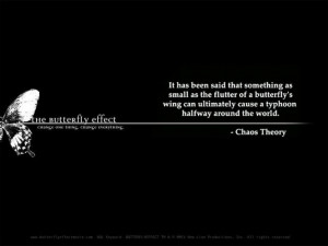 chaos theory quotes - Google Search. A theory that is portrayed in the ...