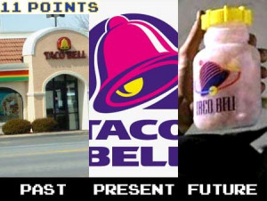 Taco Bells current logo is inspired by Demolition Man