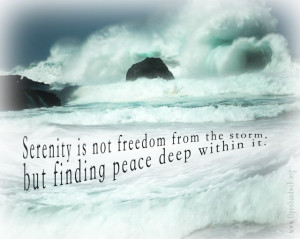 Quotes About Serenity Serenity in the storm image