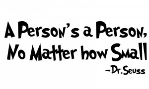 DR. SEUSS Quote The Person's a Person Removable Vinyl wall art decal ...