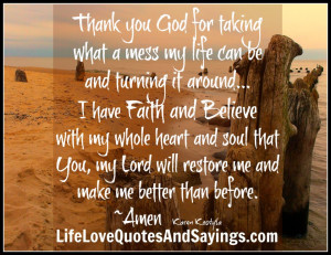 quotes and sayings thank you you and thank you lord