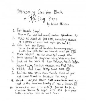 Overcoming your creative blocks ... I can relate!