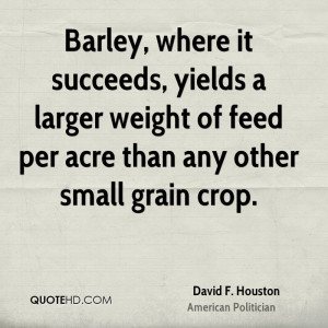 Barley, where it succeeds, yields a larger weight of feed per acre ...