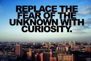 Fear Of The Unknown With Curiosity.