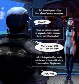 EDI & Joker (Mass Effect) - Huggybear