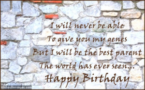 Birthday card quote for stepdaughter or stepson
