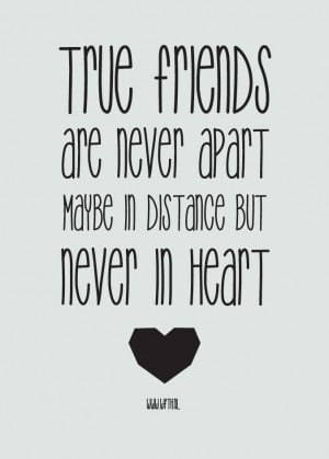 true friendship distance quotes