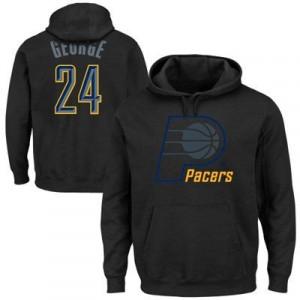 Majestic Paul George Indiana Pacers Player Hoodie - Black