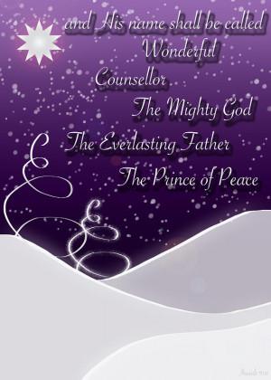 Isaiah Chapter 9 Verse 6 Christmas Card Digital Art