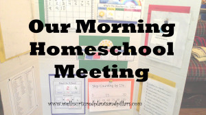 In general, our homeschool day begins together. All the kids (ages 8 ...