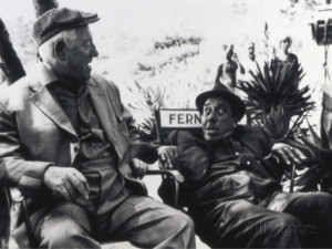 Jean Gabin and Fernandelshooting Picture L 39 ge Ingrat 1964 Stampa