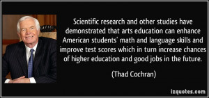 Scientific research and other studies have demonstrated that arts ...