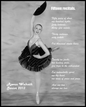 Preview of the senior ad for the recital program.