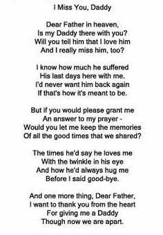 In loving memory of my daddy