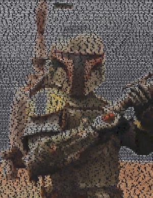 Boba Fett Quotes Mosaic Drawing