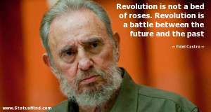 Revolution is not a bed of roses. Revolution is a battle between the ...