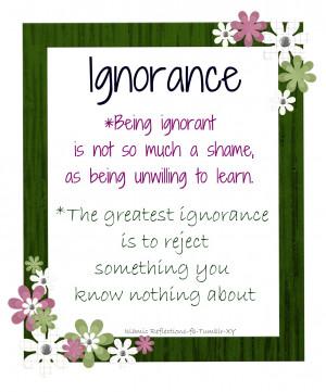 Ignorant quote #1