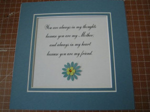 Framed quote for Mom 9x9 You are always in my by FiveSistersshop, $18 ...