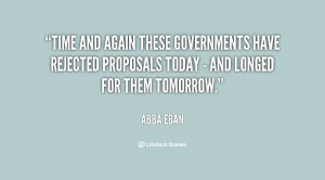 Time and again these governments have rejected proposals today - and ...