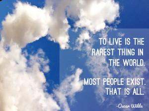Oscar Wilde Quote Living