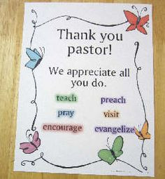 Pastor Appreciation Clergy Ideas