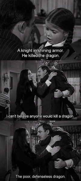 the addams family Gomez Addams Morticia Addams Wednesday Addams poor ...