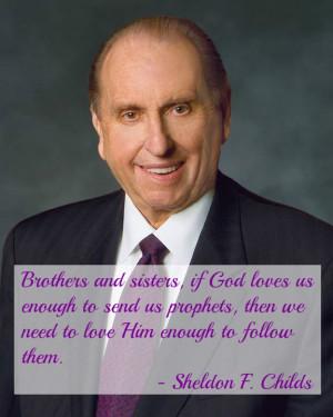 prophet prophet quote follow